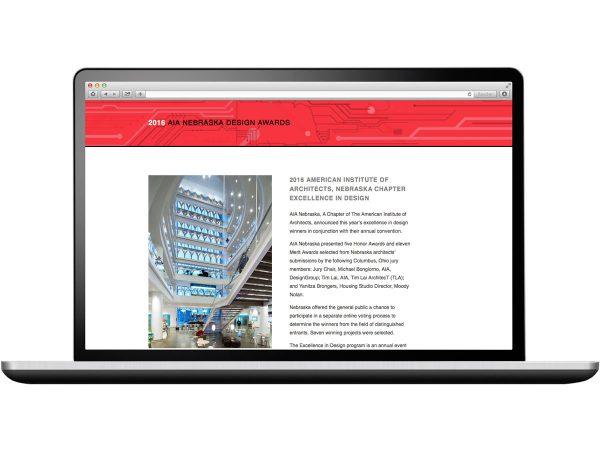 AIA Nebraska Design Awards 2016 Web Design