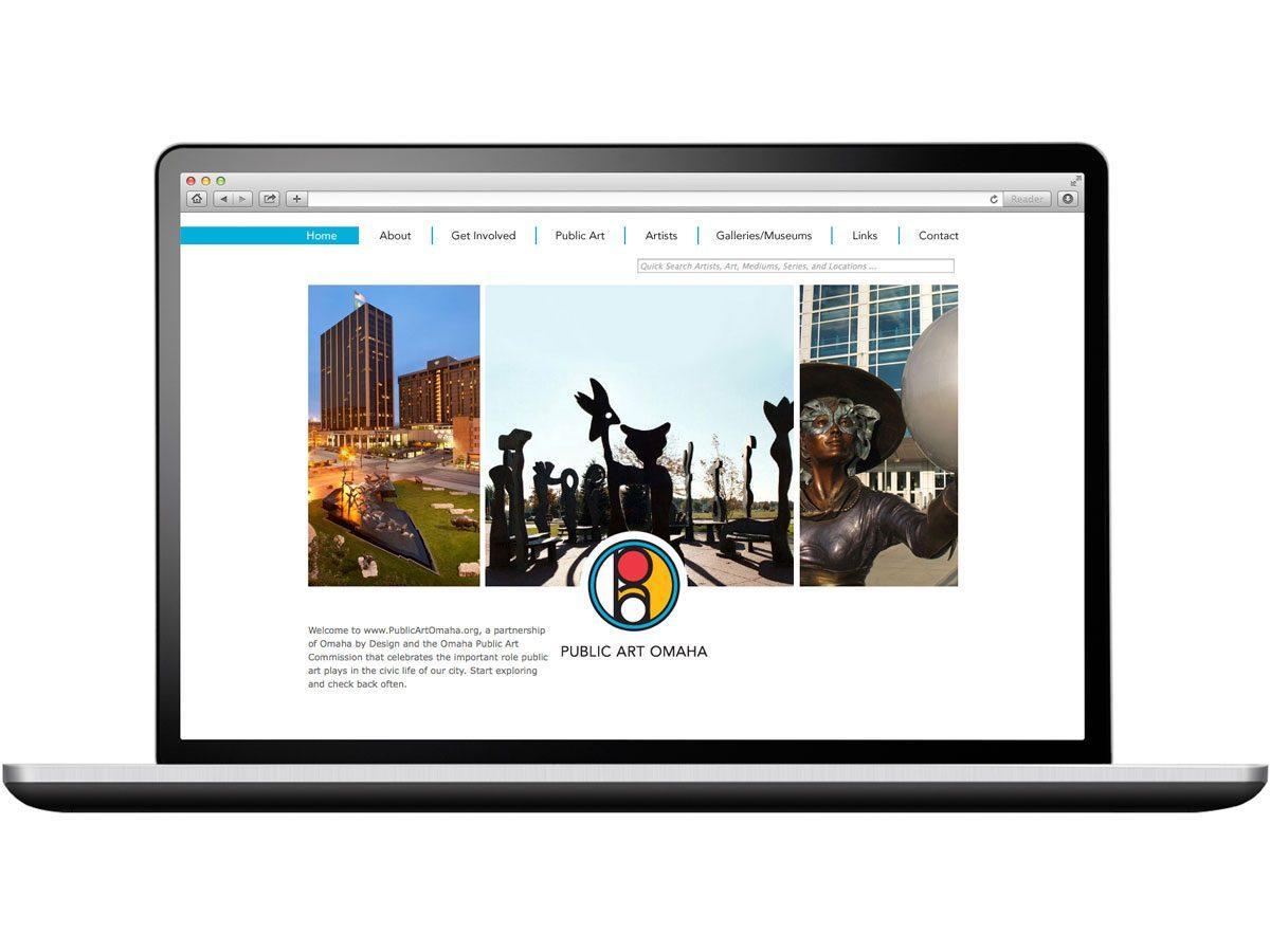 Omaha Public Art Website Design