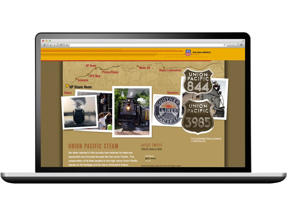 Union Pacific UP Website Design Graphic Design Eleven19