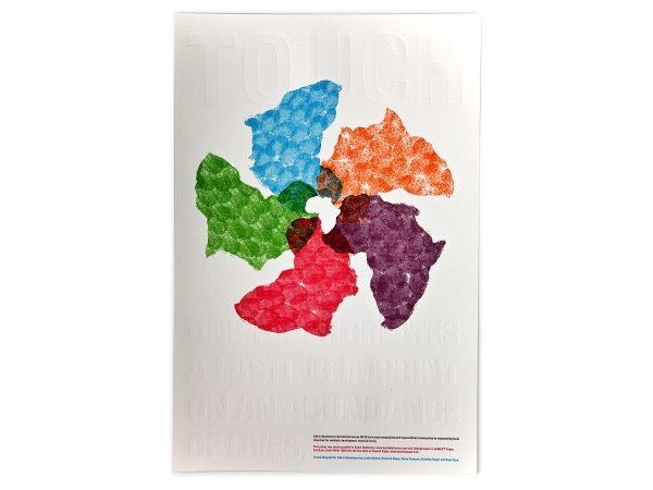 Life In Abundance Touch Africa Fingerprint Poster Embossed Blind Graphic Design Eleven19