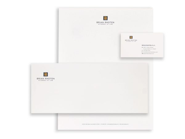 Brian Rhoten Attorney at Law Stationery Eleven19 Graphic Design