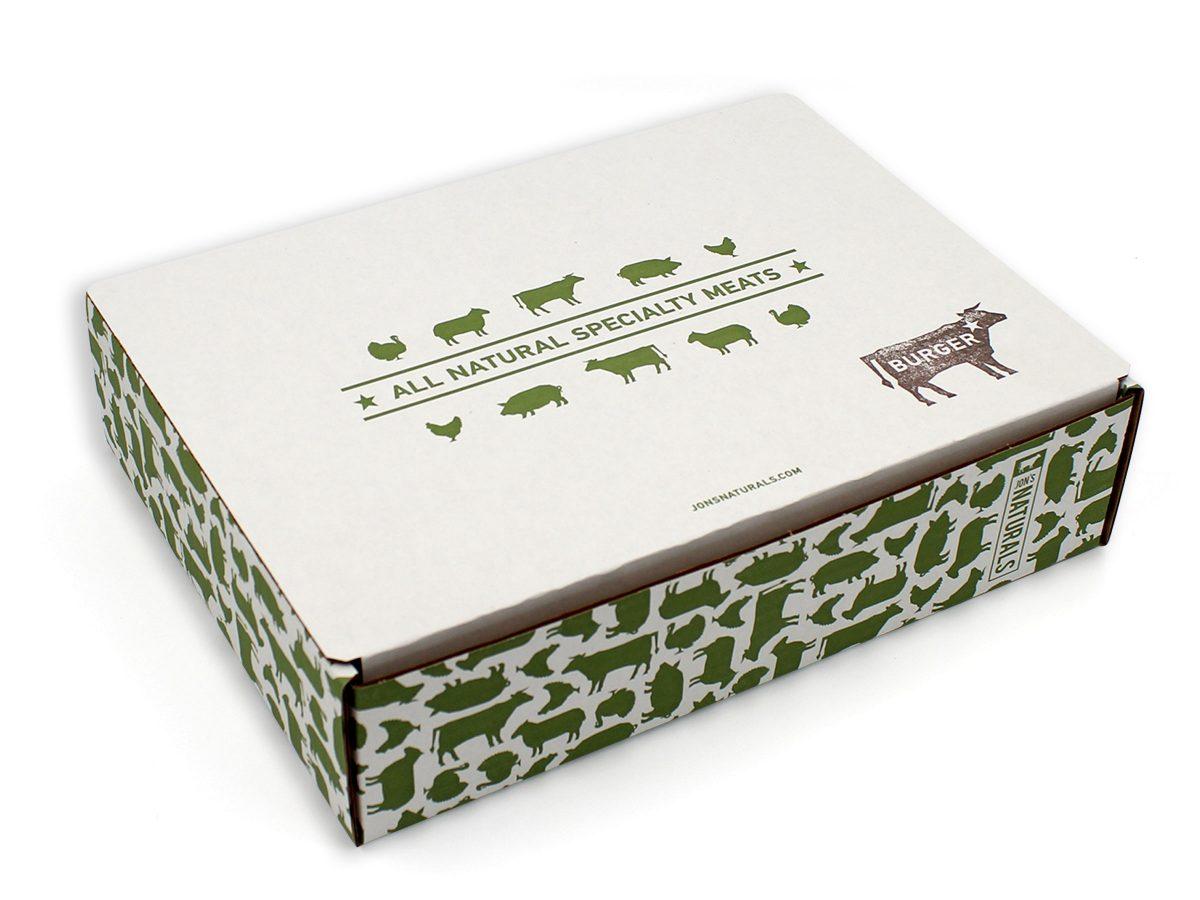 Jon's Naturals Cardboard Box Eleven19 Graphic Design