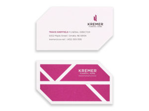 Kremer Funeral Home Temporary Business Cards Eleven19 Graphic Design