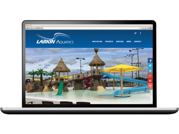 Larkin Aquatics Web Design Eleven19