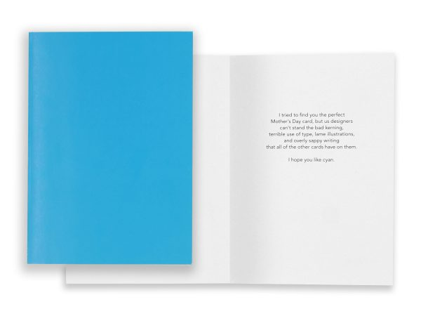 AIGA Mothers Day Card Cyan Eleven19 Graphic Design