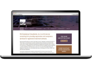 RIA Compliance Consultants Website Web Design and Development