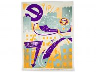 Eleven19 14 Year Self Promotion Super Villain Screen Printed Poster