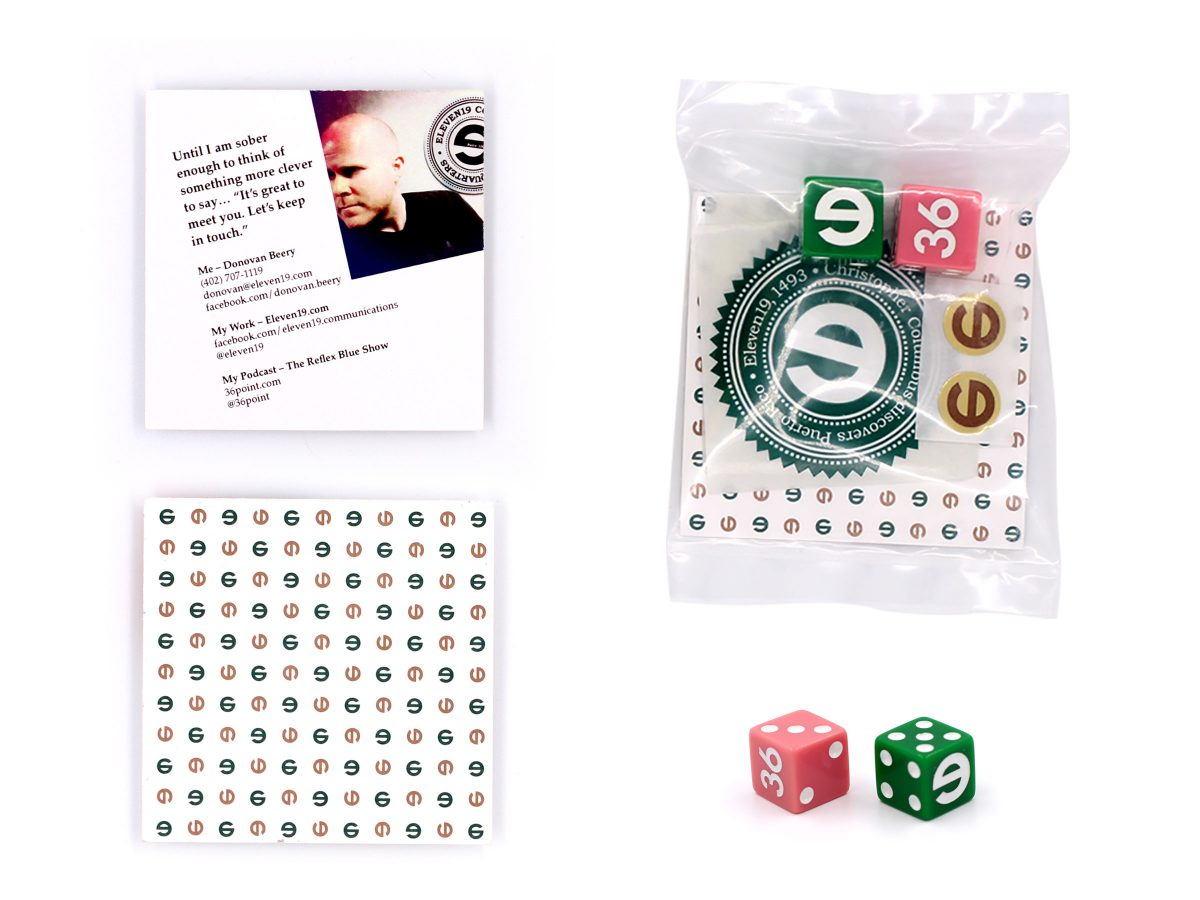 Eleven19 Self Promotion Dice Handout Office Tour Package