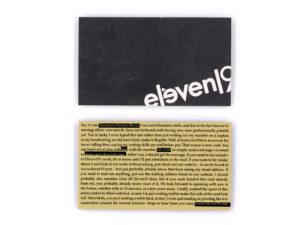Eleven19 Temporary Business Cards Custom Design