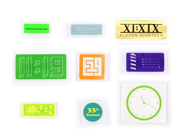 Eleven19 Assorted Stickers Design Self Promotion