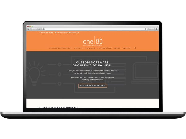 One80 Custom Development Website Design Eleven19