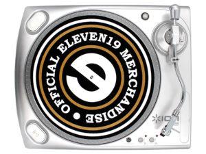 Eleven 19 Record Play Custom Vinyl Turntable Designed Slip mat