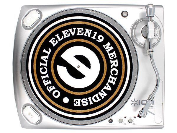 Eleven 19 Record Play Custom Vinyl Turntable Designed Slip mat