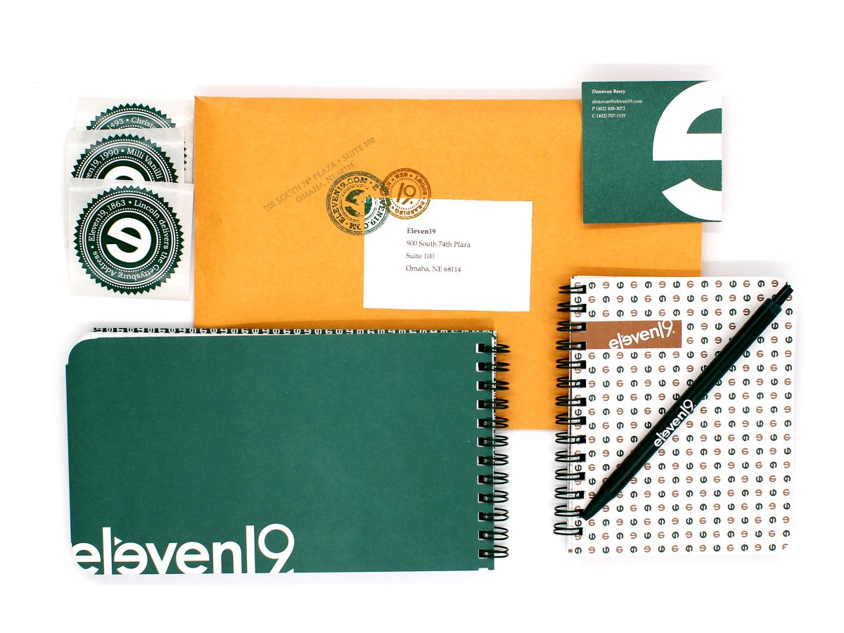 Self Promotion Nine Year Mailer Handout Anniversary Graphic Design