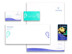 Twin Creek Animal Hospital Stationery Design