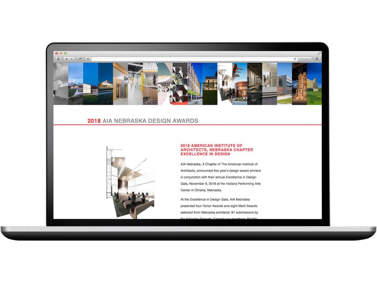 2018 AIA Nebraska Design Awards Website
