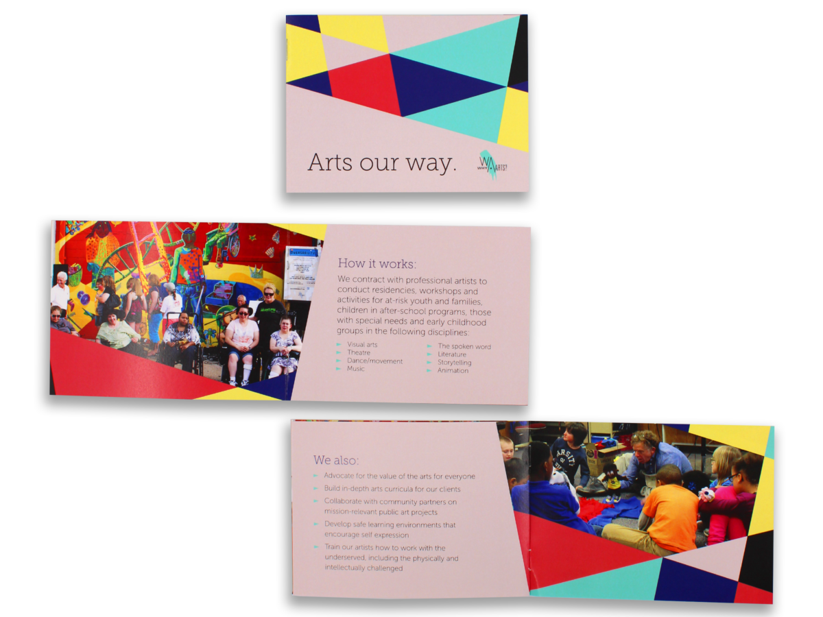WhyArts Brochure Design