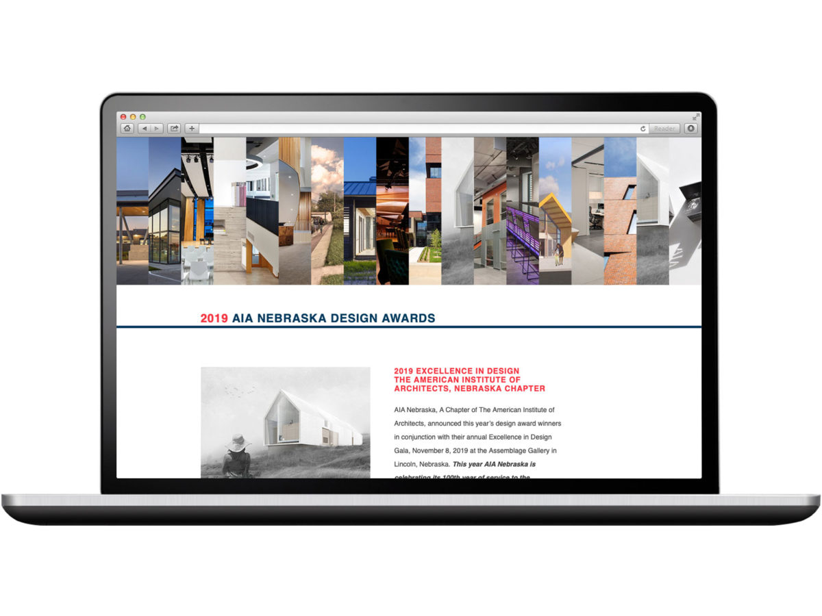 2019 AIA Nebraska Design Awards Website
